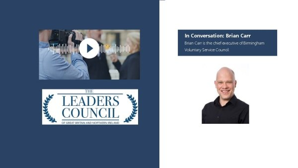 Brian Carr from BVSC appears in Leaders Council podcast alongside Lord Blunkett.