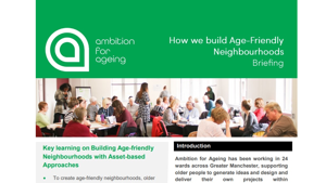 Building age-friendly neighbourhoods
