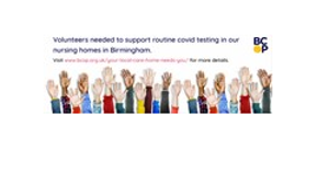 Volunteers needed to support routine covid-testing in our care homes